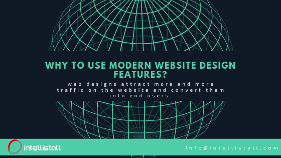 Why to use modern website design features